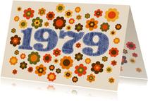 Einladungskarte Geburtstag Seventies 1979