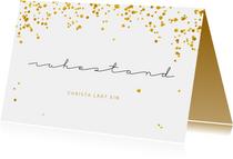 Einladungskarte Goldener Ruhestand