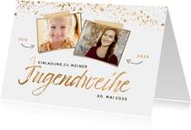 Einladungskarte Jugendweihe Fotos früher und heute