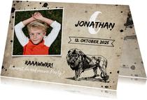Einladungskarte Kindergeburtstag Löwe & Fotos
