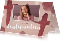 Einladungskarte Konfirmation Foto gemaltes Kreuz