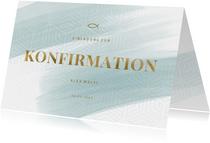 Einladungskarte Konfirmation grafischer Look Foto innen