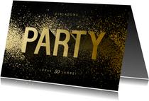 Einladungskarte Party Typografie Goldlook