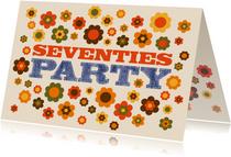 Einladungskarte Seventies Party