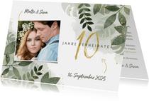 Einladungskarte zum 10. Hochzeitstag mit Foto