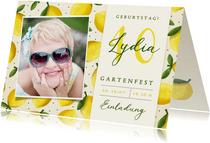 Einladungskarte zum Gartenfest Foto & Zitronen