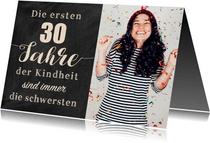 Einladungskarte zum Geburtstag Kindheit 30
