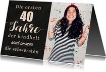 Einladungskarte zum Geburtstag Kindheit 40