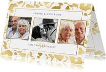 Einladungskarte zum Hochzeitstag mit Fotos