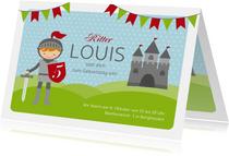 Einladungskarte zum Kindergeburtstag Ritter
