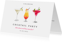 Einladungskarte zur Cocktail Party