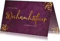 Einladungskarte zur geschäftlichen Weihnachtsfeier