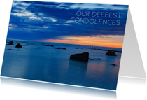 Engelstalige condoleancekaart
