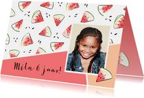 Feest uitnodiging watermeloen
