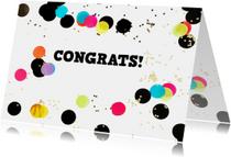 felicitatie algemeen confetti