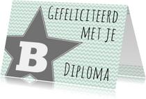 Felicitatie B-diploma Ster - WW