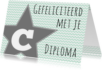 Felicitatie C-diploma Ster - WW
