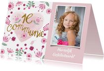 Felicitatie communie roze hart