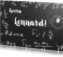 Felicitatie eigen txt tussen wiskundeformules