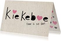 Felicitatiekaarten - Felicitatie geboorte kiekeboe - SV