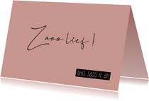 Felicitatie geboorte Zooo lief this says it all