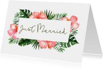 Felicitatie huwelijk Tropical - WW