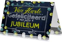 Felicitatie jubileum confetti krijtbord