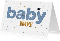 Felicitatie letter kaart baby boy