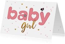 Felicitatie letter kaart baby girl