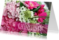 Felicitatiekaart blije bloemen