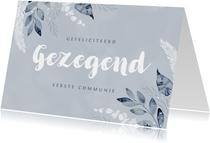 Felicitatiekaart communie doopsel gezegend christelijk