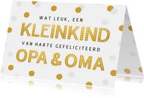 Felicitatiekaart geboorte kleinkind - opa & oma confetti