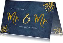 Felicitatiekaart huwelijk 2 mannen - Mr & Mr