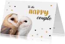 Felicitatiekaart - Huwelijk - Torteluiltjes