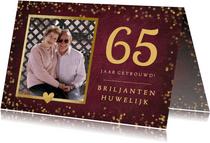 Felicitatiekaart huwelijksjubileum met getal en eigen foto