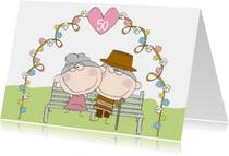 Felicitatiekaart  jubileum 50 jaar getrouwd