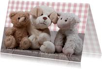 Felicitatiekaarten - Felicitatiekaart knuffel MM
