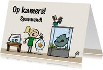 Felicitatiekaart op kamers aquarium