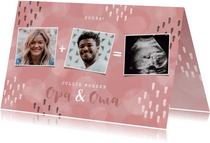 Felicitatiekaarten - Felicitatiekaart opa en oma geboorte kleinkind met waterverf