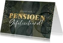 Felicitatiekaart pensioen ballonnen goudlook confetti