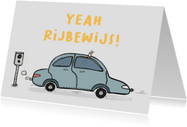 Felicitatiekaart Yeah rijbewijs!