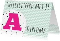 Felicitatiekaartje A-diploma -WW