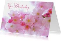 Fijne moederdag met bloemen foto
