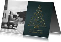 Firmen-Weihnachtskarte Foto & Weihnachtsbaum Verbindungen