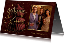 Firmen-Weihnachtskarte Papierbaum & Foto