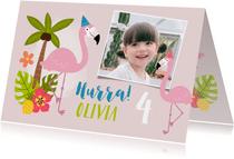 Flamingo Geburtstagskarte mit Foto