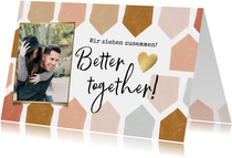 Foto-Einladung zur Einweihung 'Better together'