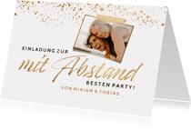 Foto-Einladung zur mit Abstand besten Party