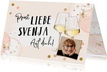 Foto-Geburtstags-Glückwunschkarte Weißwein