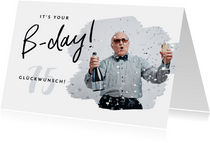 Foto-Glückwunschkarte zum Geburtstag B-day